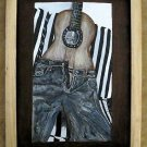 "Leather Painting Of A ""Jean Guitar"" Item 131"