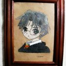 Collector's  Leather Painting Of Harry Potter Item 134