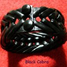 Collector's  Black Cobra Leather Bracelet Item # 139
