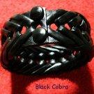 Collector's  Black Cobra Leather Bracelet Item # 139