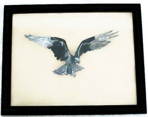 Collector's  Osprey Bird Of Prey Leather Painting Item 149