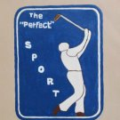 Collector's Leather Painting Of A Golfer Item 178