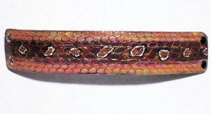 Collector's Leather Snake Skin Design Handcrafted Bracelet I-186