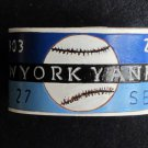 Collector's New York Yankees Leather Bracelet Item 201