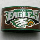 Collector's Hand Carved Philadelphia  Eagles Leather Bracelet  Item 202