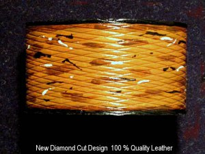 Collector's Dancing Diamonds Leather Bracelet Item 205