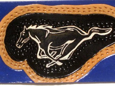 Mustang Leather Horse Hand Crafted 100% Leather Item 215