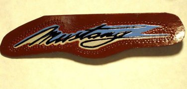 Mustang Leather Text Is Hand Carved & 100% Leather Item 216