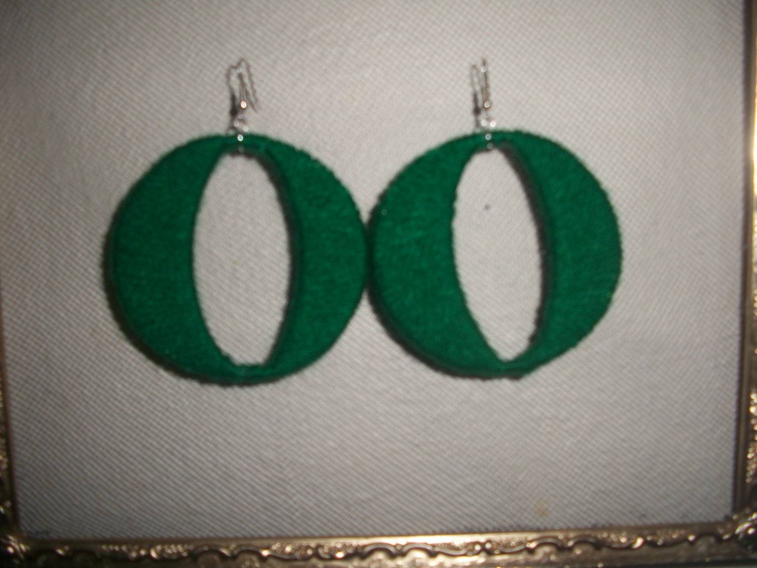 Green Cotton Candy Hoops