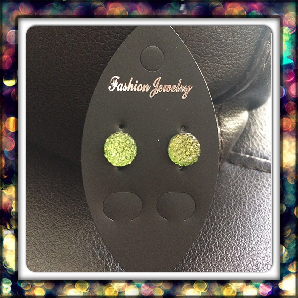 Handmade Lime green studs