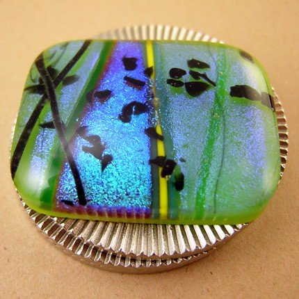 Spring Striped Dichroic Poker Card Protector