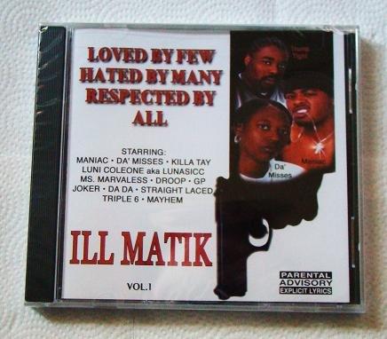ILL MATIK Vol. 1 (CD) [NEW] Luni Coleone, Killa Tay, Young Droop
