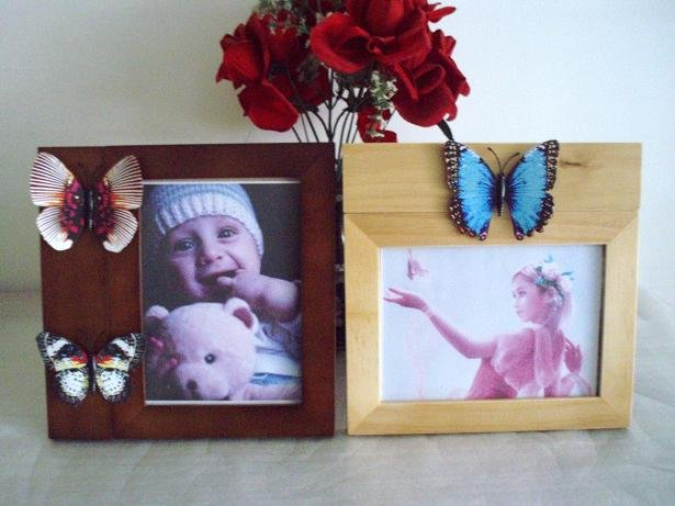 12Pcs./lot 5x7 inch Wooden Photo Picture Frame With Changeable Shape Ornament Updates Function.
