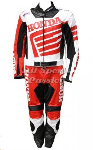 Honda Motorbike Leather Suit 2 Pc ASP-7708