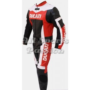 Ducati Motorbike Racing Leather Suit 2-Pc ASP-7717