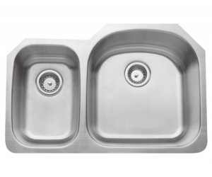 Double Bowl Undermount 16 Guage (CMU3221-79D-16)