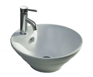 "18-3/4"" White Above Counter China Lavatory (CTA1919-8)"