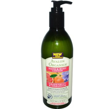 Avalon Organics Therapeutic Body Care Grapefruit & Geranium Hand & Body Lotions