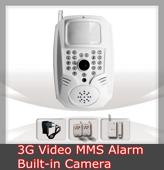 Wireless 3G Video MMS Home Security Alarm System - Built-in Night Vision Camera (YL-3G)