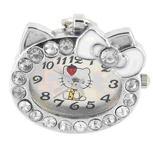 New  Head Hello Kitty Keychain Watch Crystal Steinless