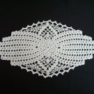 Oval White doily