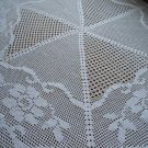 Hand crochet tablecloth 105 cm. in diameter White