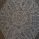 Beautiful handmade crocheted doily - beige 25 inches