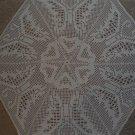 Beautiful handmade crocheted doily - beige 25 inches