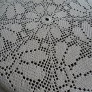 Beautiful handmade crocheted doily Margaritas - beige - 34 inches