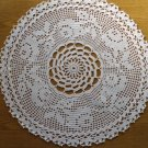 Round white doily garland of roses