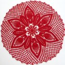 Red Christmas doily