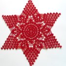 Red Christmas star doily