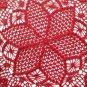 Christmas poinsettia crochet doily red
