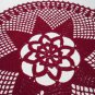 Handmade Crochet doily in Bordeaux