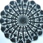 Black crochet doily