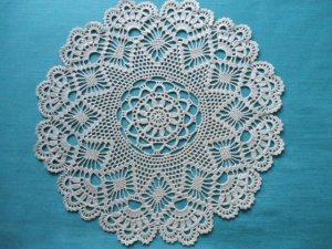 Crochet Flower Doily Ecru