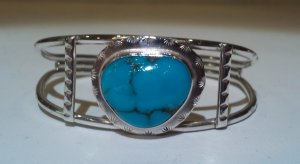 Native American Indian Turquoise Bracelet