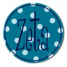 Zeta Tau Alpha Dot Bumper Sticker / ZTA Zeta Vinyl Decal