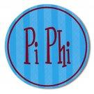 Pi Beta Phi Stripe Bumper Sticker / Pi Phi Vinyl Decal