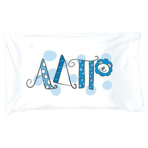 Sorority Pillow Case Dorm bid day or little sister gift Alpha Delta Pi