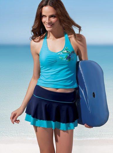 Sexy Swimwear Swimsuit Mini Skirt Tankini