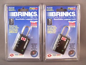 2 Tsa Travel Sentry Luggage Locks With Indicatior