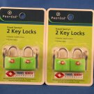 4 TSA TRAVEL SENTRY LUGGAGE LOCKS NIB!!