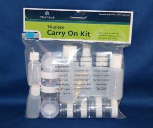Tsa 1 Quart Size Bag Travel Kit, 311, 3-1-1