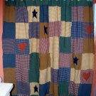 Shower Curtain # 2 Patchwork, Primative, Country Handmade