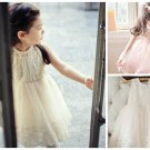 Girls Lace Rustic Flower Girl Dress