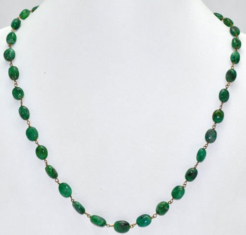 Natural Emerald Oval Gemstone Cabochon Beads Jewelry