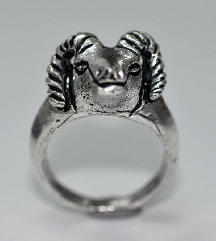 Beautiful Lamb Shape Ring Made In Silver @Factory Price