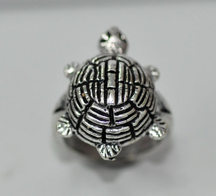 Beautiful Tortoise shape silver ring @ Factory Price