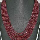 7 Rows of Pigeon Blood Red Color Ruby Beads Jewelry